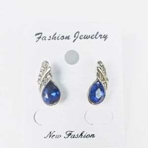 3/$30 Silver and blue tone earring studs